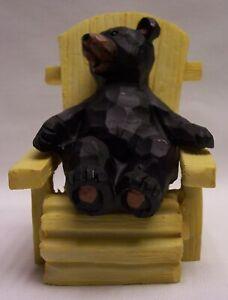 Bear In Adirondack Chair Figurine Home & Cabin Decor (NCK)