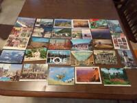 Vintage Lot Of 28 Post Cards all Different ~ All Locations Some Used Some Unused