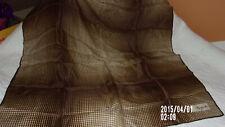 "Vintage Signed Elsa Schiaparelli Scarf Shades of Brown Square 27""/EXCELLENT"