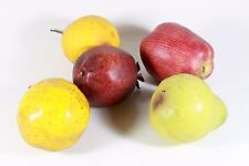 Artificial Fruit Pears Pomegranate Apple Lot Of 4 Pieces