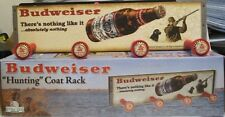 "Budweiser Hunting Coat Rack w/Bottle Caps Vintage Style Image 18.5"" x 4.5"""