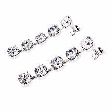 Damen Ohrringe Swarovski Kristalle 925 Silber Versilbert Hänger Klar Weiß