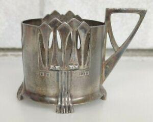 VINTAGE WMF ART NOUVEAU TEA GLASS HOLDER SILVER PLATED 345