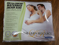 California King Quilted Anchor Band Waterbed Mattress Pad NEW