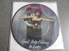 "TECHNO TWINS ~ Can't help falling in love UK 7"" picture disc 1982"