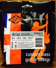 Rotosound RS66LH+ Drop Zone Plus Stainless Steel Bass Guitar Strings 85-175
