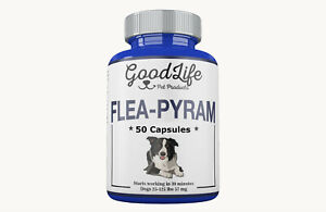 50 Capsules GoodLife Monthly Flea Killer For Dogs 25-125 Lbs 57 mg Quick Results