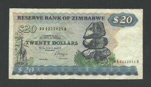 ZIMBABWE  $20  1983  P4c  Fine  Banknotes