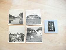 4x Original Foto + 1 x Dia - wahrscheinlich Polen - Ghetto