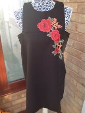 Dress By Boohoo Size 14 Petite Black BRAND NEW WITH TAGS