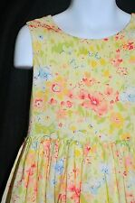 Polly Flinders Size 6X Party Dress Floral Watercolor Lined Church Wedding