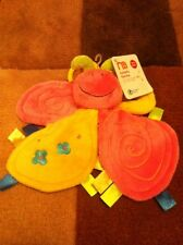 Mothercare Butterfly Blankie Comforter Pink & Yellow Soft Toy Baby NEW