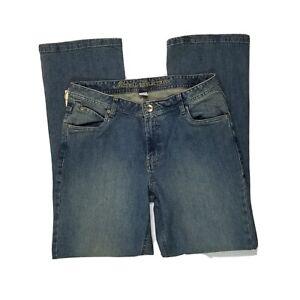 Natural Reflections Sz 12 Womens Jeans Straight Leg Denim Pants Med Wash NWT