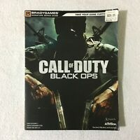 Call Of Duty: Black Ops Paperback Strategy Guide Book 2010