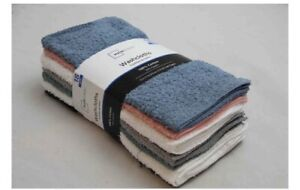 "18 Pack Mainstay Washcloth 100% Cotton 11"" x 11"" Gray Green + Face Wash Cloth"