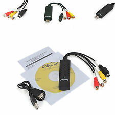 USB to RCA AV Composite SVideo DVD VHS Video Audio Capture Card Recorder Adapter