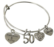 50th Birthday Bracelet- 50th Birthday Jewelry -50th Birthday Gift for Women