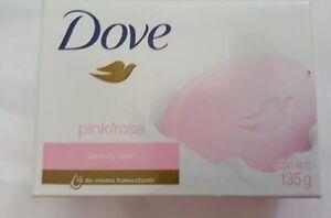 3 Dove Beauty Bar soap pink / rose  135 g 4 OZ new US SHIPPER
