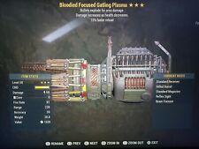 Fallout 76 PS4 BE Gatling Plasma [God Roll Legacy]