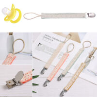 Cotton Infant Feeding Soother Holder Nipple Clips Pacifier Clip Pacifiers Chain