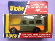 Dinky 604 Diecast Land Rover Bomb Disposal unit (Boxed with plastic kit)