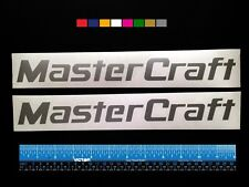 """2 (TWO)  MASTERCRAFT  Boats Marine HQ Decals 12"""" - Silver Metallic + more"""