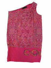 COOGI Women's Over one shoulder Shirt Pink Sleeveless Med M Stretch