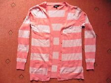Women's Papaya Coral striped Cardigan, size 10