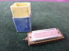 Un joli petit vintage miniature Hohner Harmonica Pendentif