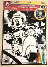 Disney Mickey Mouse Clubhouse Velvet Art Poster 11 X 14 Markers Craft NEW
