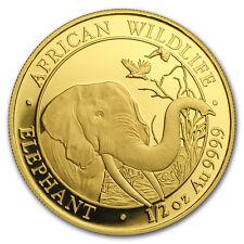 2016 1//25th Oz Gold Somalian Elephant coins New Encapsulated Uncirculated BU.