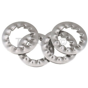 Internal Serrated Tooth Shakeproof Lock Washers A2 304 Stainless Steel M3 to M16