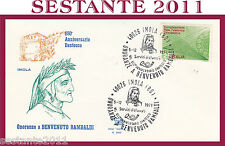 ITALIA FDC ROMA A 240 BENVENUTO RAMBALDI 1971 ANN. DANTESCO ANNULLO IMOLA G250
