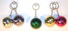 2 DISCO BALL REFLECTION KEY CHAIN novelty mirror balls refective keychain dance