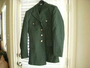 US ARMY CLASS A MEN'S GREEN DRESS COAT SIZE 41L