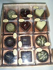 "Box of 24 1.5"" Chocolate Shaped & Scented Candles for Shower/Party Favors"