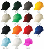 NEW COTTON CAP COLOURED HAT SPORTS CAP CAPS - PINK RED BLACK BLUE WHITE GREEN