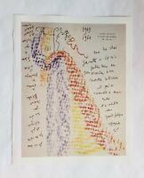 Book Plate Art Jean Cocteau Letter Illustrated Print 9.75 x 12 Original Framable