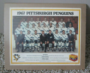 VINTAGE 1967 PITTSBURGH PENGUINS RP TEAM PHOTO SHRINK WRAPPED MAN CAVE