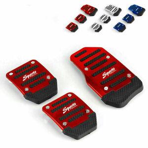3pcs Red Non Slip Car Pedal Pad Cover Car Interior Decor Accessories Universal