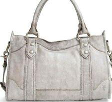 Frye Silver Metallic Pebbled Leather Melissa Large Satchel Bag DB0174 NWT $388