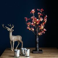 Jaymark Products Pre Lit LED Artificial Rustic Birch Snowy Berry Christmas Tree