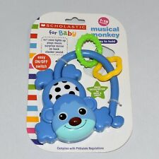 Scholastic for Baby Musical Monkey Ages 1 - 18 Months Plays Music Easy to Hold