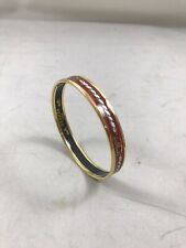 Hermes Gold Plated Red Cloisonné Ware Bangle
