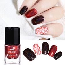 6ml Red Holographic Nail Art Stamping Polish Printing Varnish Decor BORN PRETTY