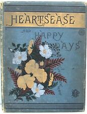 Heartsease and Happy Days by L Clarkson 1882 ~ 12 Chromolithographs of Flowers