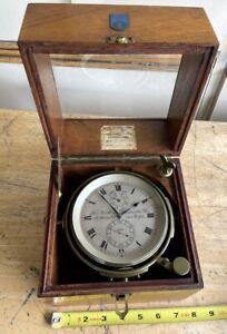 Rare The Northern Goldsmiths Marine Ship Chronometer Newcastle England 56 Hours