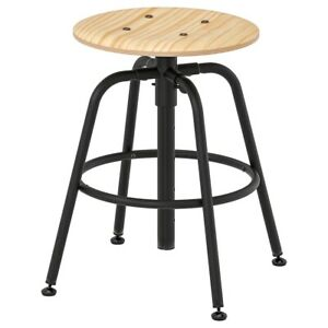 Brand New IKEA KULLABERG Work Bar Stool Seat in Pine Black No. 103.636.51