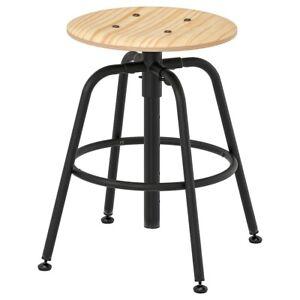 Brand New IKEA KULLABERG Work Bar Stool Seat in Pine Black No. 103.636.51