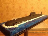 1:350 Soviet/Russian Typhoon class submarine complete model with water diorama